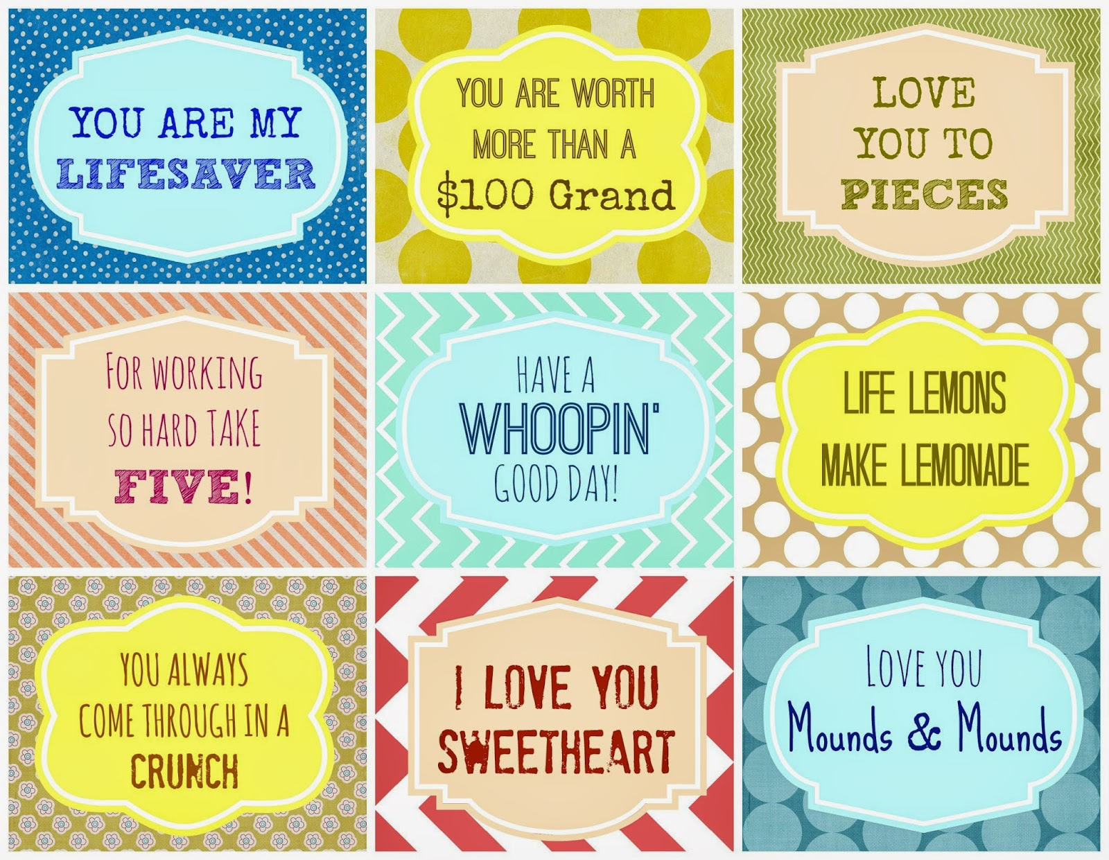 Candy Grams Free Printable