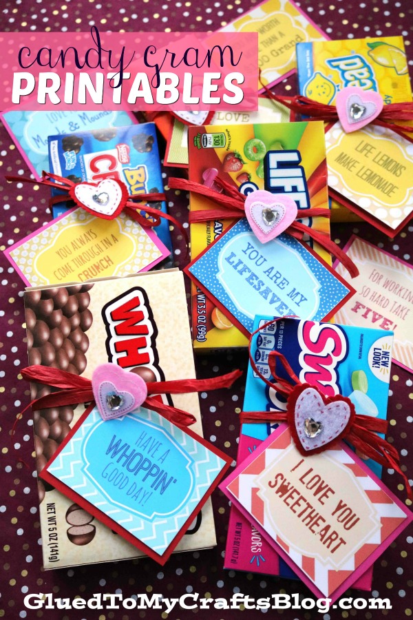 Valentine's Day Candy Gram Gift Tag Printables