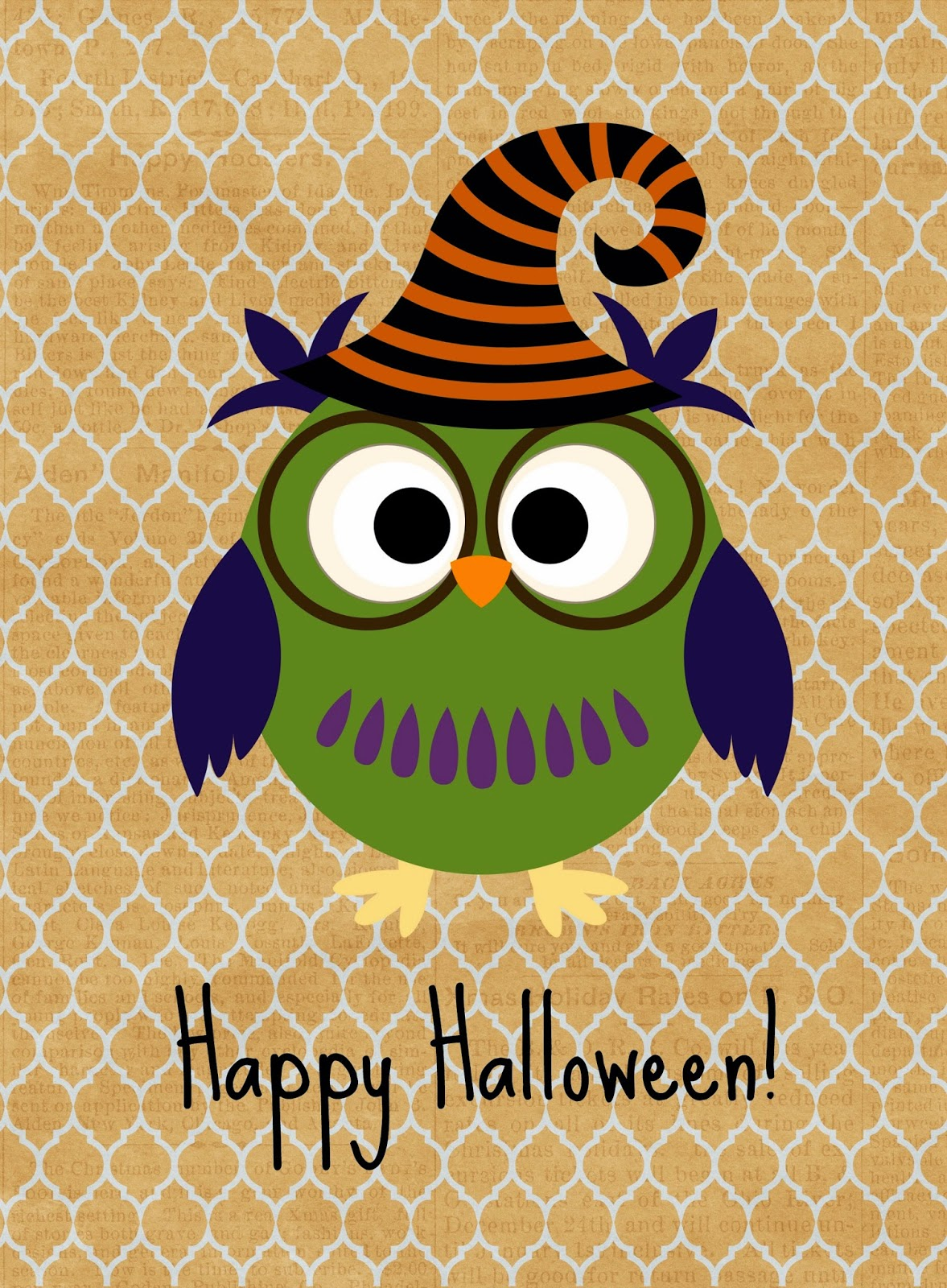 It's just a picture of Massif Happy Halloween Printable