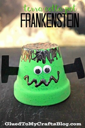 Terra Cotta Pot Frankenstein - Halloween Kid Craft
