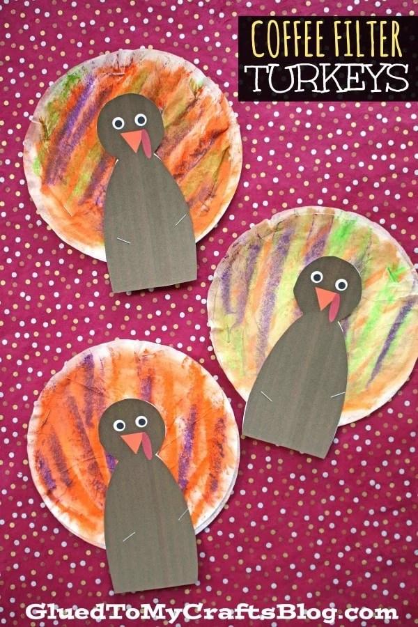 Coffee Filter Turkeys - Kid Craft