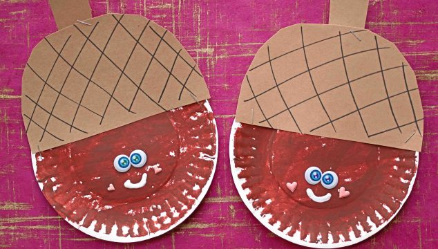 Paper Plate Acorn Friend {Kid Craft}