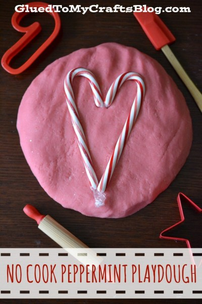 No Cook Peppermint Playdough