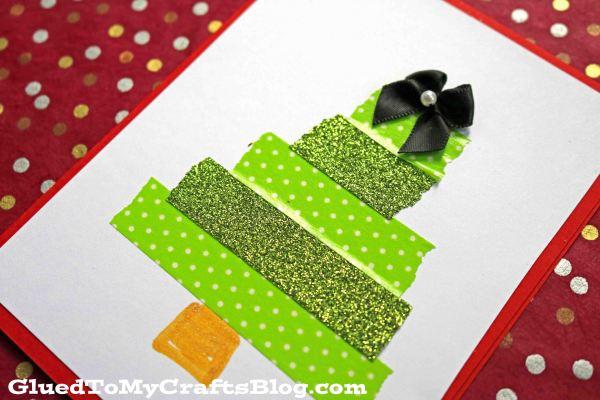 Washi Tape Christmas Tree Cards