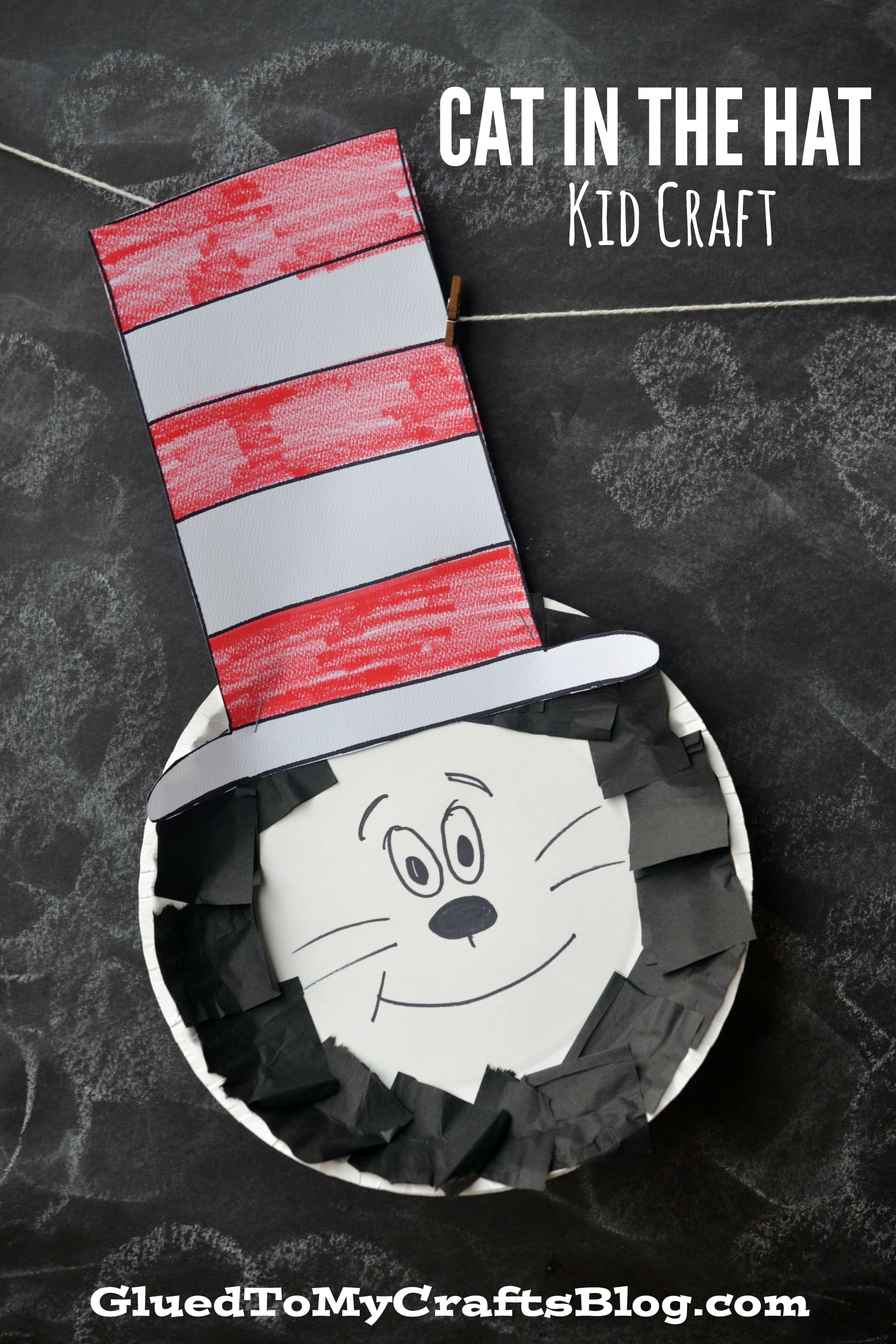 Paper Plate Dr Seuss Cat In The Hat Kid Craft