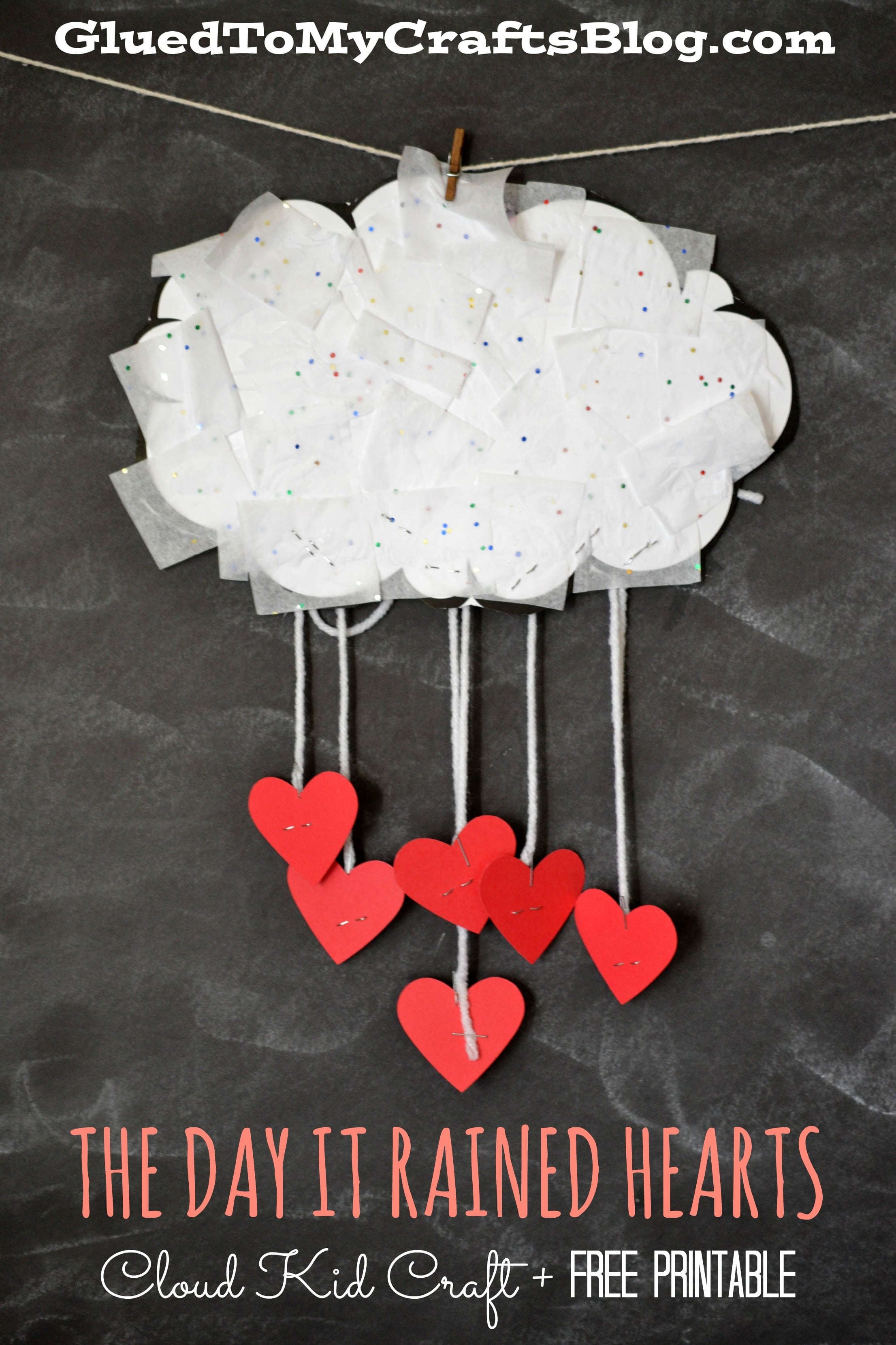 The Day It Rained Hearts Cloud Kid Craft Amp Free