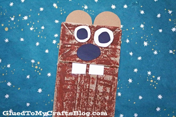 Paper Bag Groundhog {Kid Craft}