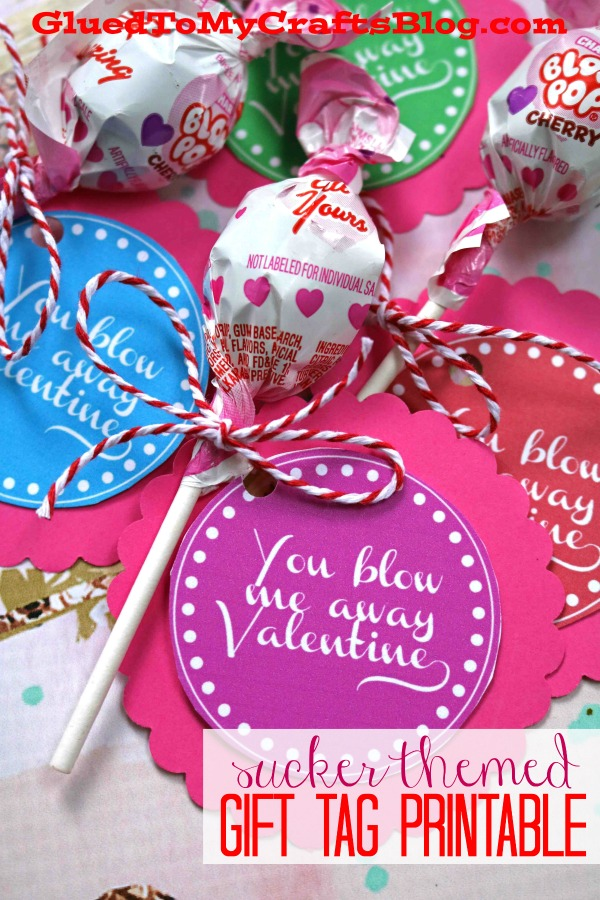 You Blow Me Away - Valentine Gift Tags
