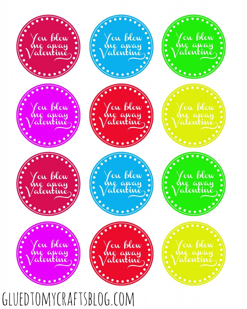image regarding You Blow Me Away Valentine Printable known as Yourself Blow Me Absent - Valentine Present Tags