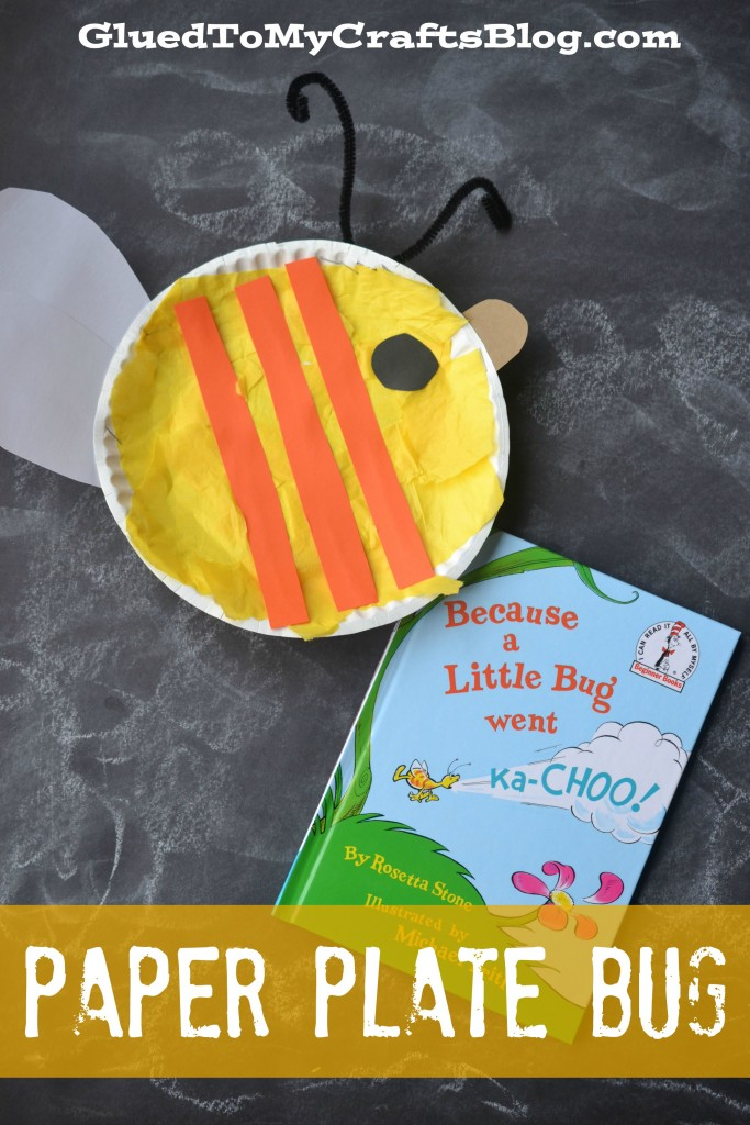 & Dr Seuss Inspired Paper Plate Bug Kid Craft