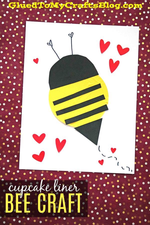 Cupcake Liner Bees {Kid Craft}