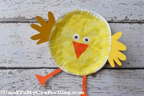 Paper Plate Easter Chick - Kid Craft Idea