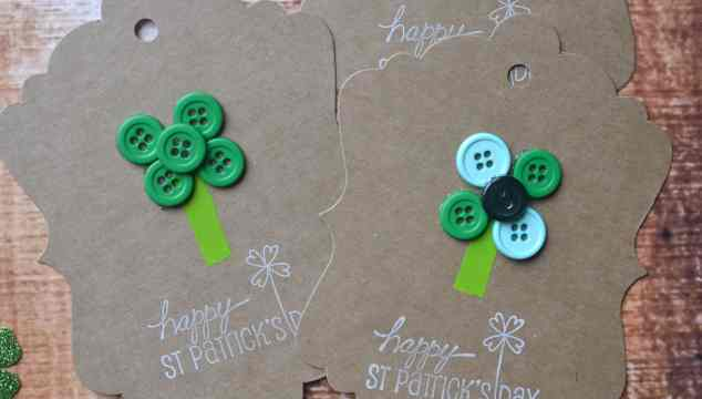 St. Patty Button Clover Gift Tags