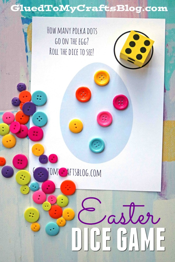 picture about Printable Dice called Easter Cube Video game - Match Principle No cost Printable