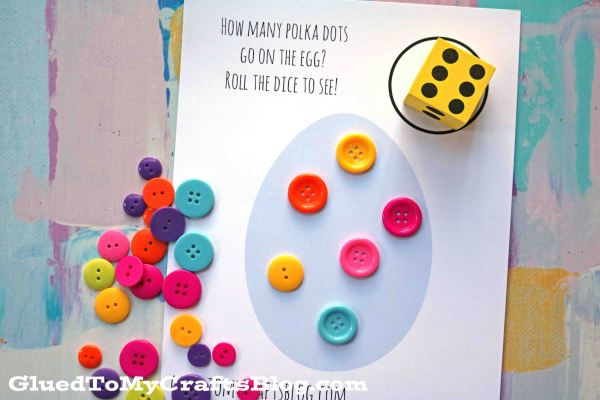 Busy Bag Easter Dice Game - Free Printable
