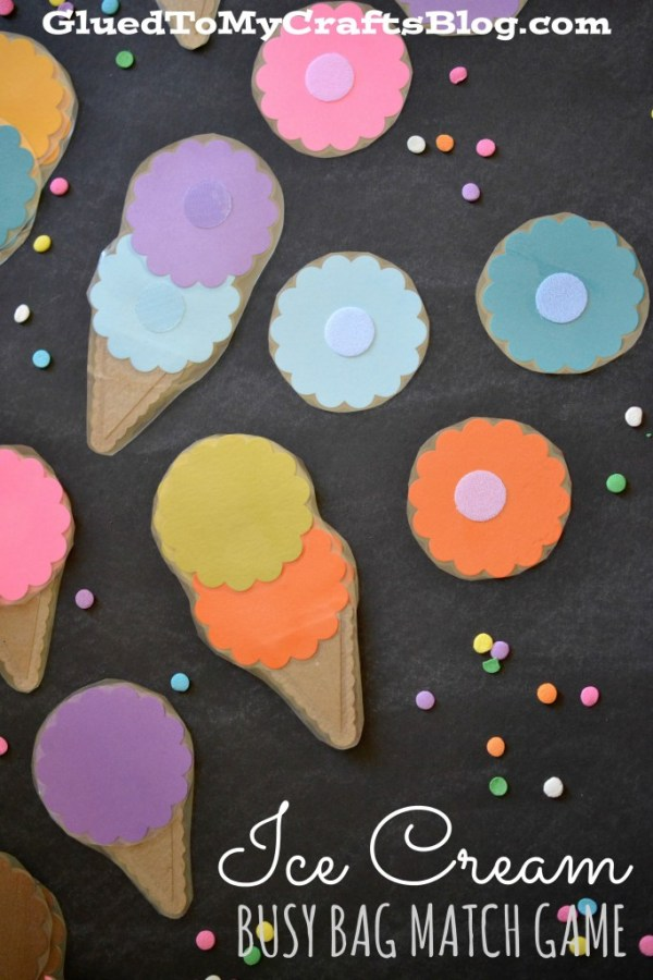 Ice Cream Match Game - Busy Bag Idea