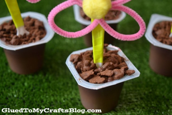 Flower Pot Pudding Cups