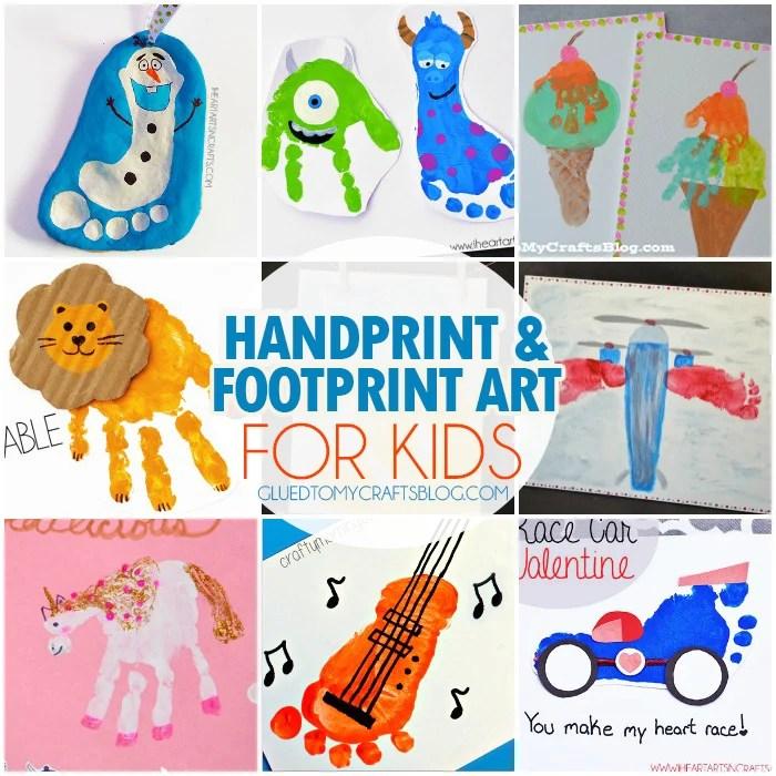 Handprint Amp Footprint Art For Kids Roundup
