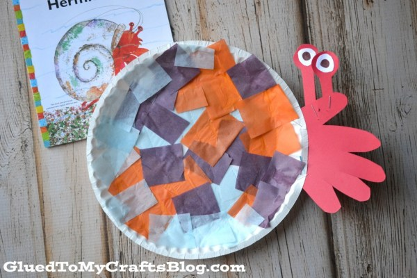 Paper Plate Hermit Crab {Kid Craft}