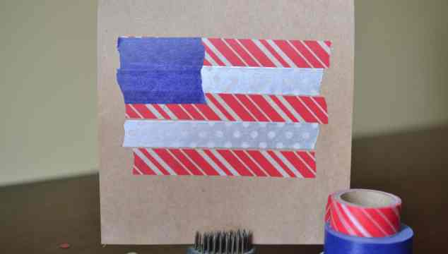 Washi Tape Flag Cards – Patriotic Craft
