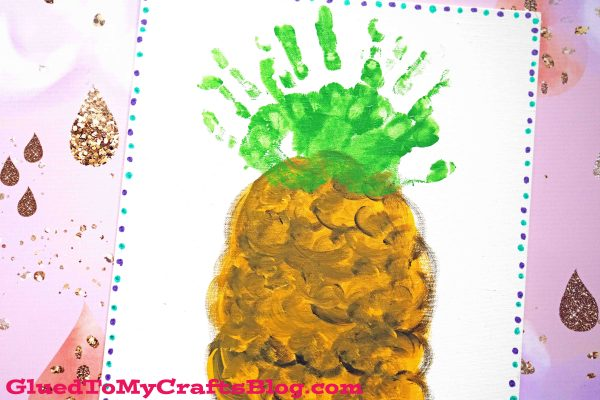 Handprint Pineapple Keepsake Canvas