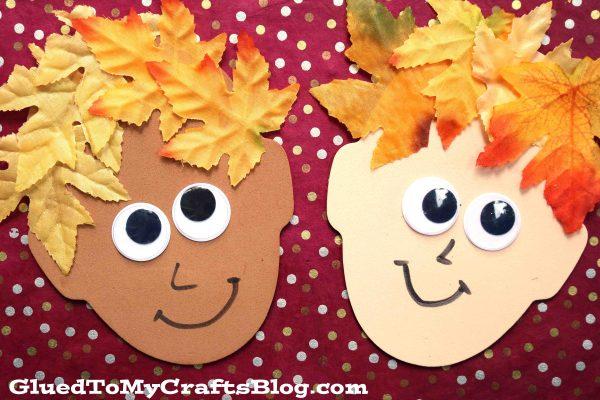 Silly Leaf Hair - Fall Kid Craft Idea