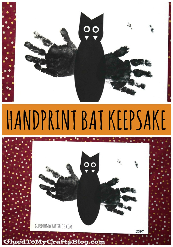 picture about Printable Handprint named Handprint Bat w/No cost Printable Template