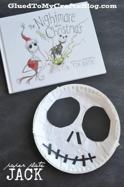 The Nightmare Before Christmas - Paper Plate Jack Kid Craft