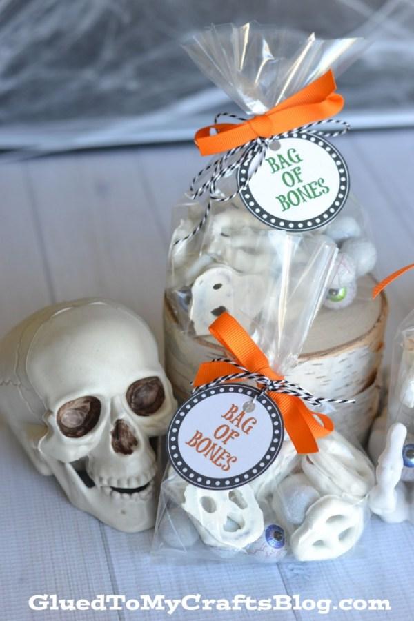 Halloween Snack Bag Idea - Bag of Bones Printable