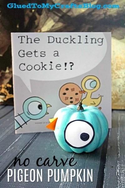 No Carve Pigeon Pumpkin - Children's Book Character
