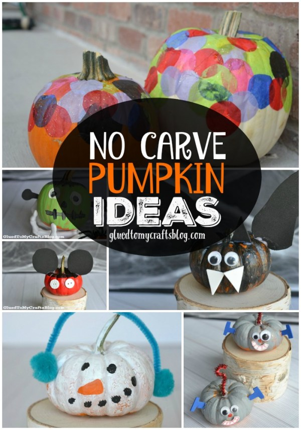 No Carve Pumpkin Idea Roundup