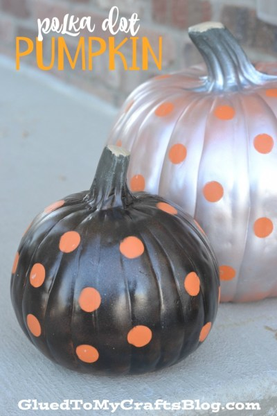 No Carve Polka Dot Pumpkins