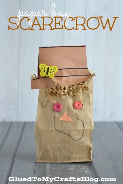 Paper Bag Scarecrow - Kid Craft