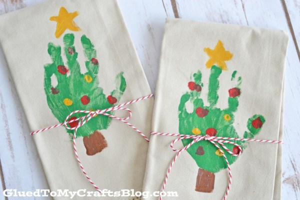 Handprint Christmas Tree Napkins