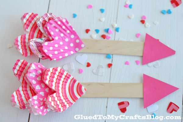 Cupcake Liner Cupid's Arrow - Kid Craft