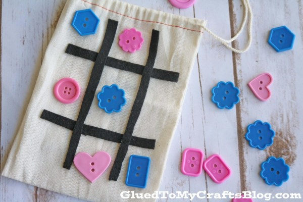 Simple On-The-Go Tic Tac Toe Busy Bag Idea