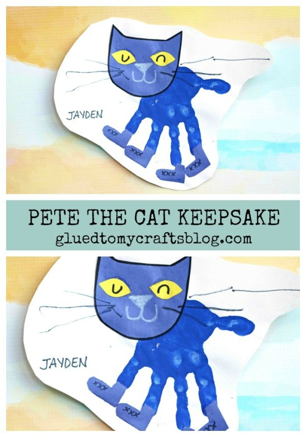 Handprint Pete The Cat Keepsake