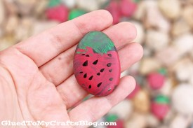 Strawberry Rock Painting – Kid Craft
