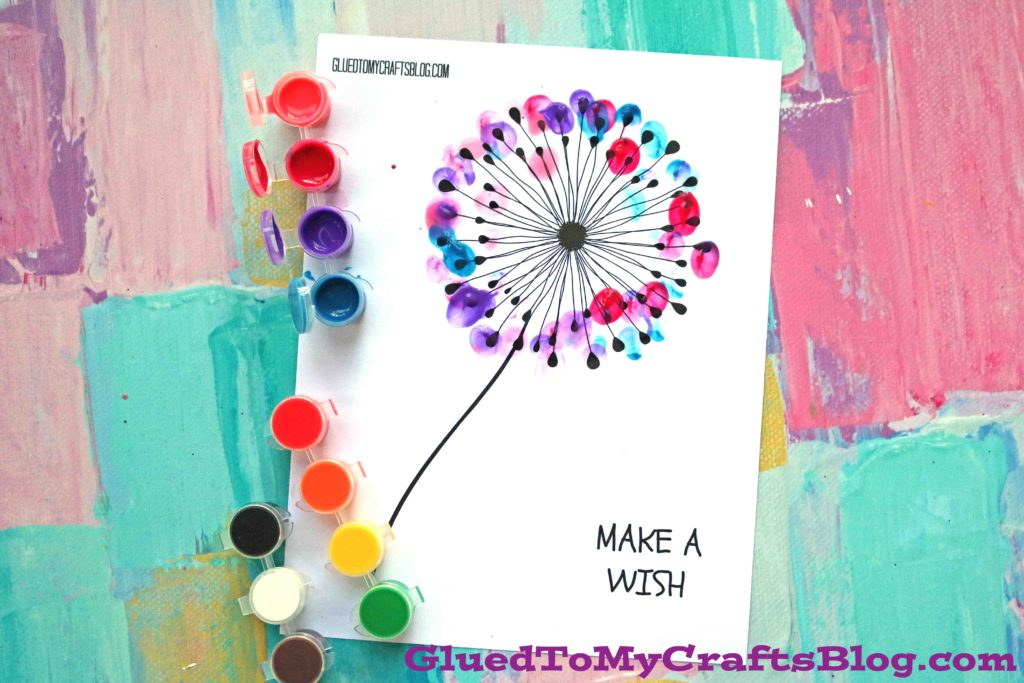 graphic relating to Free Printable Crafts named Thumbprint Dandelion - Child Craft w/totally free printable