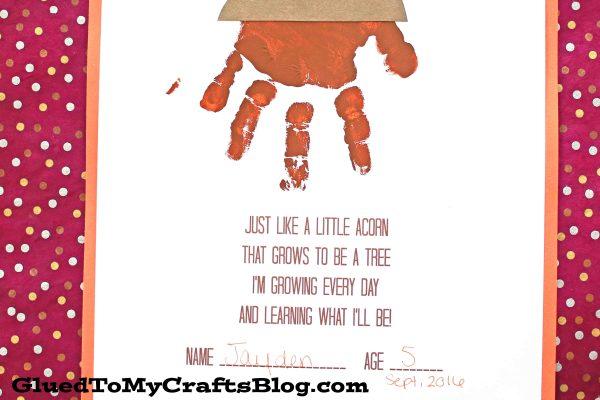 Handprint Acorn Poem - Free Printable