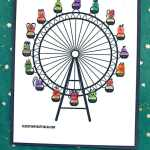 Thumbprint Ferris Wheel Kid Craft Idea W Free Printable