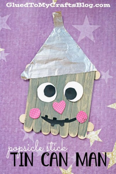 Popsicle stick tin can man kid craft idea glued to my for Tin can tin man craft