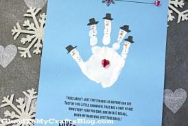Handprint Snowman – Poem Keepsake Printable