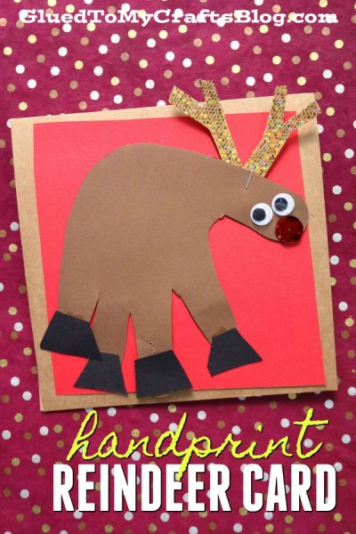 super easy handprint christmas cards  glued to my crafts