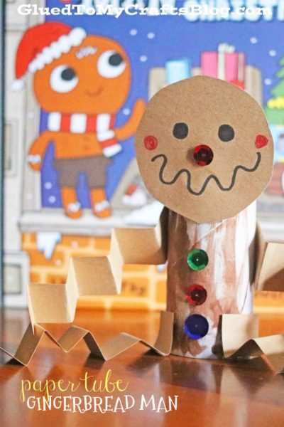 Paper Tube Gingerbread Man - Kid Craft