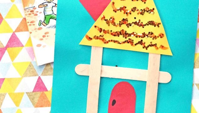"""Popsicle Stick """"H"""" Is For House – Kid Craft"""