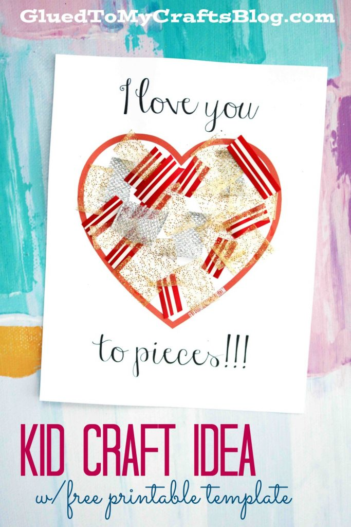 picture relating to I Love You to Pieces Printable titled Take pleasure in Yourself Toward Components Craft w/free of charge printable template
