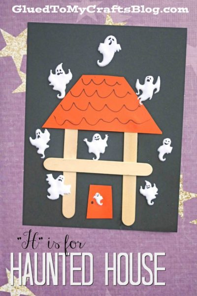 """""""H"""" is for Haunted House - Kid Craft"""