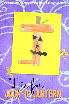 Popsicle Stick Jack-O-Lantern