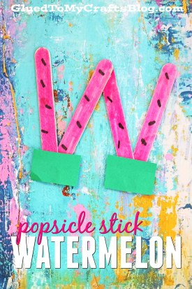 Popsicle Stick Watermelon - Kid Craft